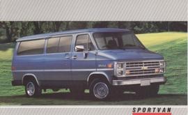 Sportvan,  US postcard, large size, 19 x 11,75 cm, 1988