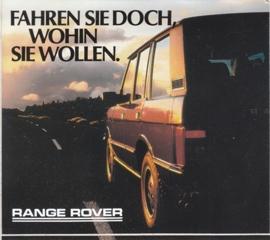 Range Rover, sticker, German, 10 x 11,5 cm