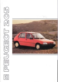 205 brochure, 32 pages, A4-size, 1991, Dutch language