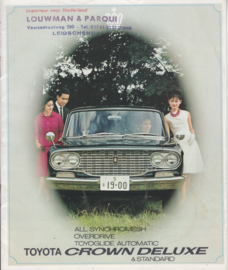 Crown Deluxe & Standard Sedan brochure, 16 pages,  about 1966, English language