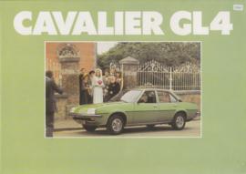 Cavalier Sedan GL4, 4 pages, Dutch language, about 1979