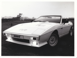 TVR 350i wedge convertible - factory photo - about 1985