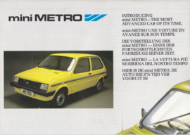 Mini Metro, 8 pages, A4-size, about 1980, 5 languages