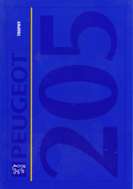205 Trophy folder, 4 pages, A4-size, 1992, Dutch language
