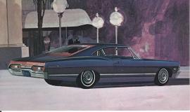 Impala Sport Coupe, US postcard, standard size, 1967