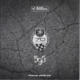 595 Program price brochure, 36 pages, 01/2020, Dutch language