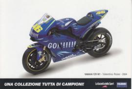 Yamaha YZR M1 2004, Italian Promocard, DIN A6-size, # 5470