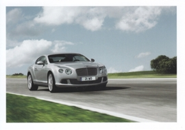 Continental GT, A6-size postcard, about 2014, English