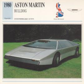 Aston Martin Bulldog card, Dutch language, D5 019 02-13