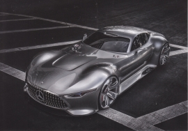 Sportscar concept, A6-size postcard, Mercedes-Fan World # 08/2012, German