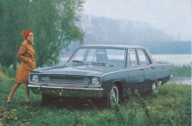Dart Sedan, export postcard, standard size, 1967, Dutch language