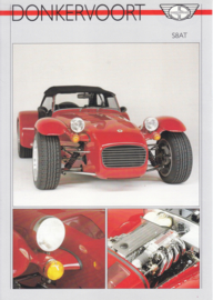 Donkervoort S8AT sports car leaflet, 2 pages, about 1988, English language