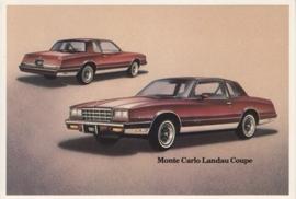 Monte Carlo Landau Coupe,  US postcard, standard size, 1981