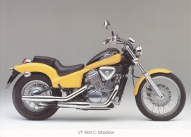 Honda VT 600 C Shadow postcard, 18 x 13 cm, no text on reverse, about 1994