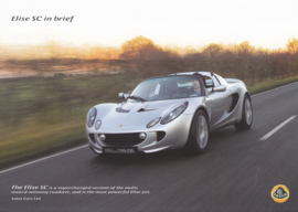 Elise SC Convertible, 2 page leaflet, DIN A4-size, factory-issued, 2009, English language