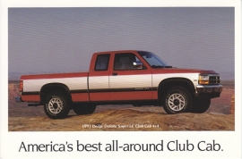 Dakota Super LE Club Cab 4x4, US postcard, continental size, 1993