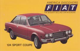 124 Sport Coupe, standard size, US postcard, 1973