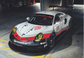911 RSR sportscar factory issued postcard,  DIN A6-size, German, 2016