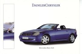Mercedes-Benz SLK Cabriolet, A6-size postcard, NAIAS 2000, English