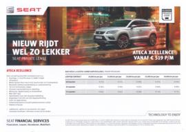 Ateca Xcellence private lease leaflet, 2 pages, 2016, Dutch language