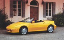 Elan Convertible, standard size postcard, about 1990, USA issue