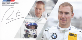 DTM driver Maxime Martin, oblong autogram card, 2014, German/English