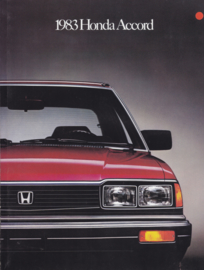 Accord Sedan & Hatchback USA brochure, 4 pages, A4-size, 1983, English language