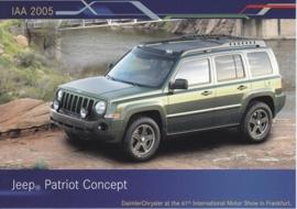 Jeep Patriot Concept, A6-size postcard, IAA 2005