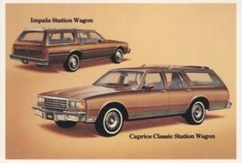 Caprice Classic & Impala Station Wagon,  US postcard, standard size, 1981