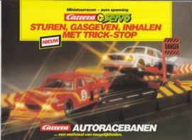 Carrera miniature car racetracks brochure,  16 pages, 1980, Dutch language
