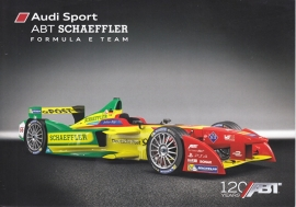 Formula E team ABT leaflet, 2 pages, about 2016, English/German, DIN A5-size