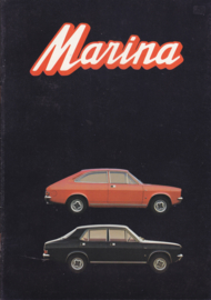 Marina all model brochure, 16 pages, A4-size, 10/1971, German language
