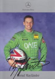 Bernd Mayländer - DTM 2002 - auto gram postcard, German