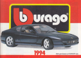 Burago brochure, 80 pages, 1994, English language, small-size