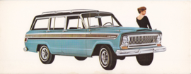 Super Wagoneer, US oblong postcard,  23 x 9 cm, 1966