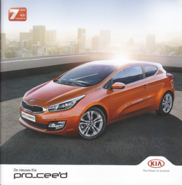 Pro_Cee'd Hatchback brochure, 24 pages, 05/2014, Dutch language