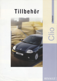 Clio accessories brochure, 4 pages, about 2000, Swedish language