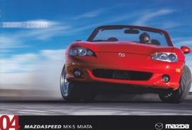 Mazdaspeed MX-5 Miata, 2004, US postcard, A5-size