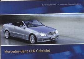 Mercedes-Benz CLK Cabriolet, A6-size postcard, Geneva 2003