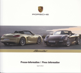 Porsche Press Kit Geneva 2012, DVD with pictures & small booklet, factory-issued,  German/English/French