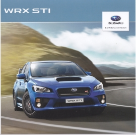 WRX STI brochure, 32 pages, Swedish language, 2014