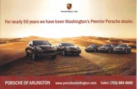 Porsche program, continental size card, PC Washington US, dealer-issue, about 2009