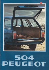 504 Break brochure, 12 pages, A4-size, 1978, Dutch language