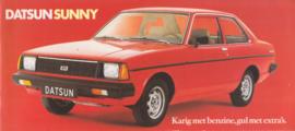 Sunny program brochure, 8 pages, 1/3rd A4-size, Dutch language, c1975