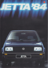 Jetta II brochure, 8 pages,  A4-size, German language, 1/1984
