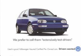 Golf pre-owned postcard,  A6-size, USA, English language, 1999