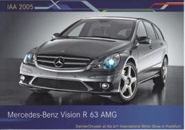 Mercedes-Benz Vision R 63 AMG, A6-size postcard, IAA 2005