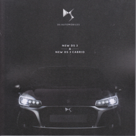 DS3 & DS3 Cabrio brochure, 56 pages, 02/2016, Dutch language