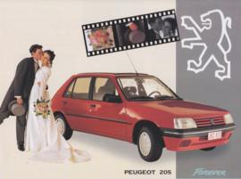 205 Forever folder, 4 pages, A4-size, 1/1994, Dutch language (Belgium)