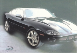 XK R Coupe, large postcard, 16 x 11 cm, Turin motorshow 2000